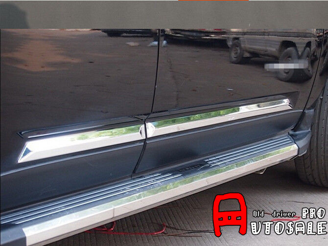For Jeep Compass 2011 2012 2013 2014 2015 ABS Chrome Side Door body molding bottom Cover Trim 6pcs accessories fit for 2013 2014 2015 2016 hyundai grand santa fe side door line garnish body molding trim cover