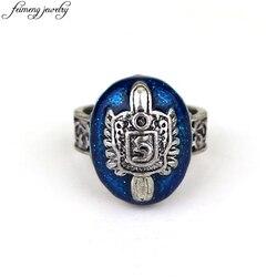 O vampiro diários anel salvatore damon stefan punk anéis do vintage azul liga de zinco anel moda jóias acessórios para fãs