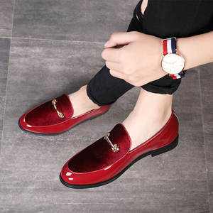 Men Loafers Dress-Shoes Formal Pointed-Toe Patent Leather Fashion 37-48 Big-Size