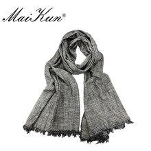 Maikun Scarf for Women Fashion Luxury Brand Warm Stripe Stole Shawl Bufandas Wrap Men