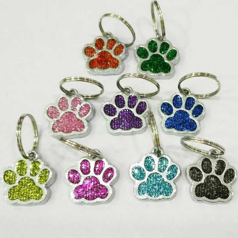 50pcs Paw Hang necklace Pendant Charms keyring Fit Pet Collar Cell Phone Charms LH496