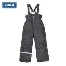 Inverno pantaloni di Cotone 2017 New Poliestere Solido Ragazzi Etero Zipper Fly ragazzi inverno complessivo Moomin inverno pantaloni impermeabili