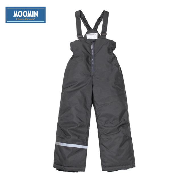 Winter Cotton pants 2017 New Polyester Solid Boys Straight Zipper Fly boys winter overall Moomin winter waterproof pants