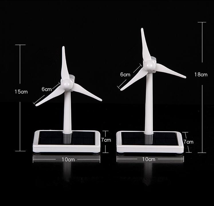 где купить Mini Wind Turbine Generator Model Solar Wind Power Windmill Educational DIY Model Wind-Solar Assembly Kit Car Desktop Decoration дешево