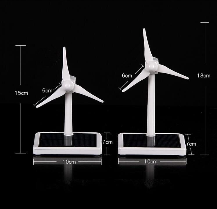Mini wiatr generator z turbiną Model zasilania energią słoneczną wiatrak edukacyjne DIY modelu wiatru słonecznego zestaw montażowy samochodu dekoracja stołu