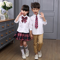 Primary Junior Senior High School Uniforms Boys Clothing Sets Teenage Girls Outfits Long Sleeve Students Plaid Tracksuits 2-20Y