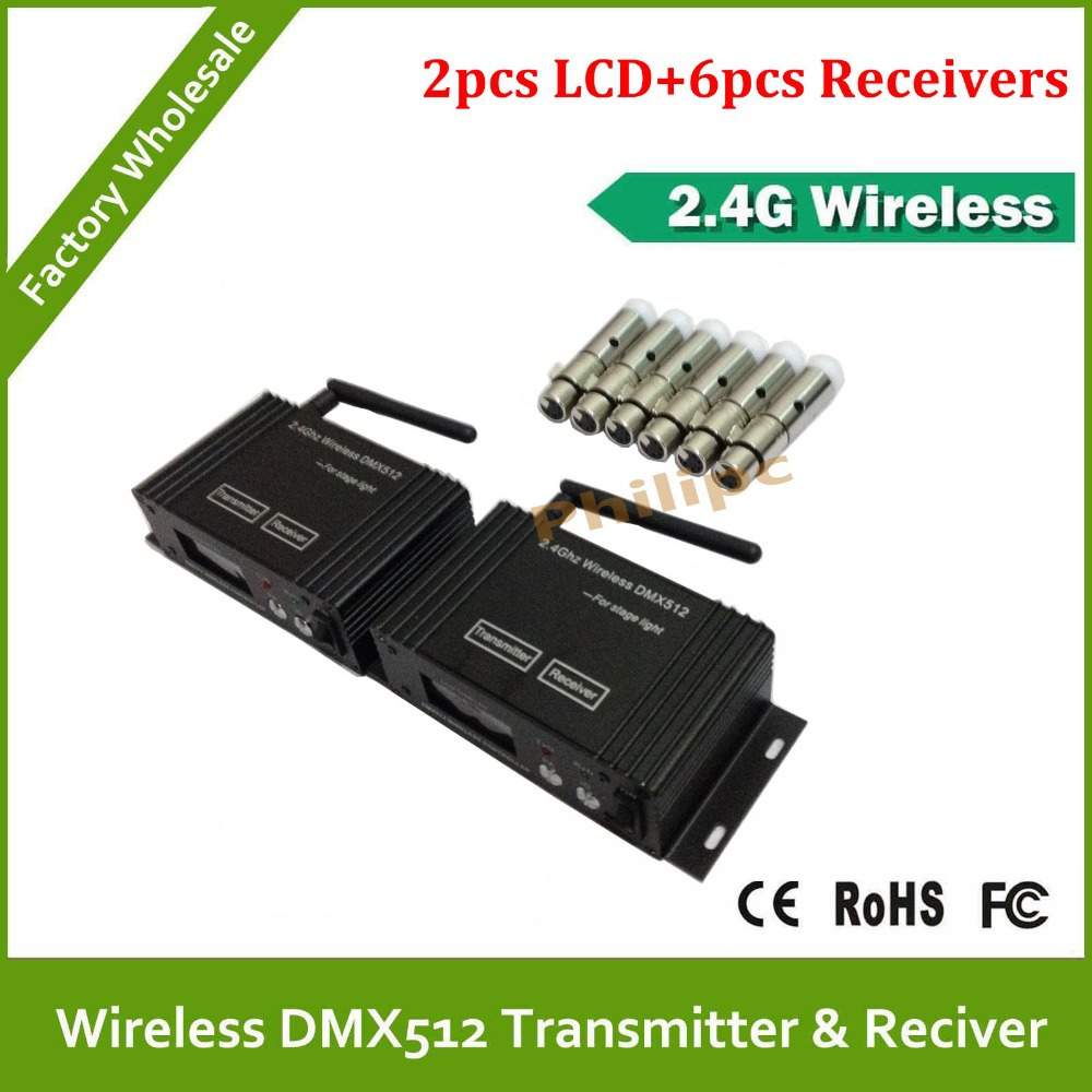 DHL Fast Free Shipping wireless dmx led controller 3-pin XLR DMX512 wireless receiver/transmitter dmx512 digital display 24ch dmx address controller dc5v 24v each ch max 3a 8 groups rgb controller