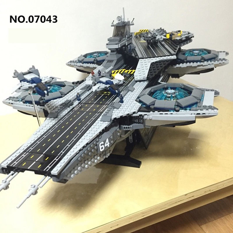 Lepin 07043 3057PCS Super Heroes The Shield Helicarrier Compatible 76042 Model Building Kits Blocks Bricks Toys For Children lepin 07043 3057pcs super heroes the shield helicarrier model building blocks bricks toys kits for children compatible 76042