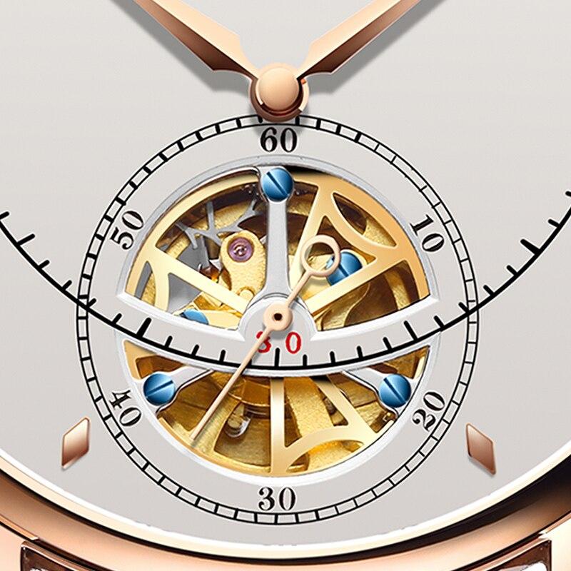 Automatyczny zegarek mechaniczny szwajcaria NESUN Tourbillon zegarki męskie luksusowa marka szkielet zegarek Sapphire Montre Homme N9038 w Zegarki mechaniczne od Zegarki na  Grupa 3