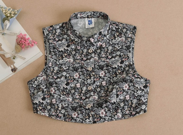 Vest shirt fake kraag blouse afneembare decoratie valse kraag grijs