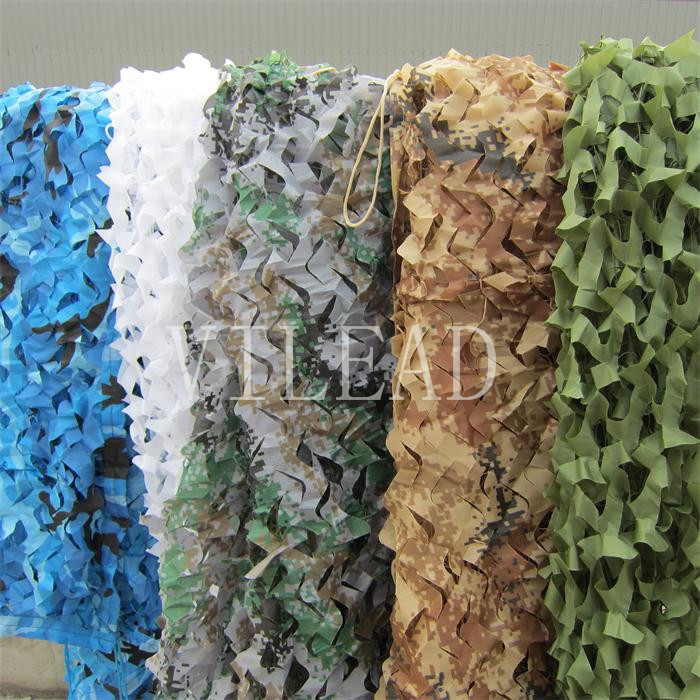 VILEAD 9 Colors 4x8M Camouflage Net Camo Net for Sun Shelter Awning Shade Hunting Military Shelter