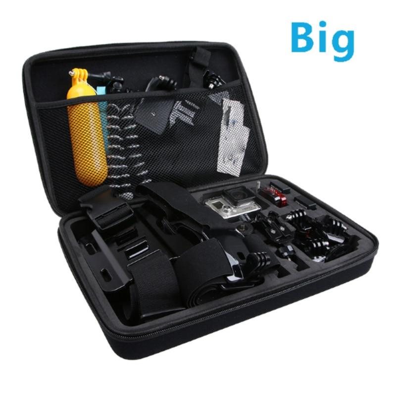 Caja del bolso de la colección de almacenamiento de viaje para Gopro Hero 3/4/5/6 Sj4000 Xiaomi Yi Cámara de Acción Soocoo Sport Cam Go Pro Accesorios