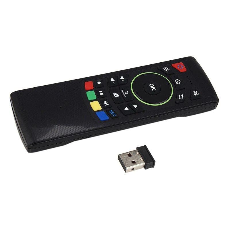 Надежный интеллектуальный анти-Джиггер алгоритм 2.4 г Беспроводной Дистанционное Управление клавиатура Air Мышь для XBMC Android ТВ коробка