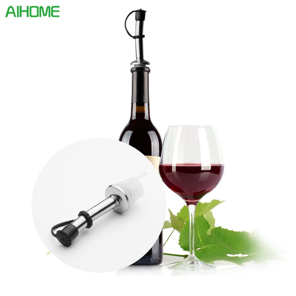 1PC PREUP Stainless Steel Wine Bottle Liquor Spirit Pourer Flow Pour Spout Stopper Barware Tool