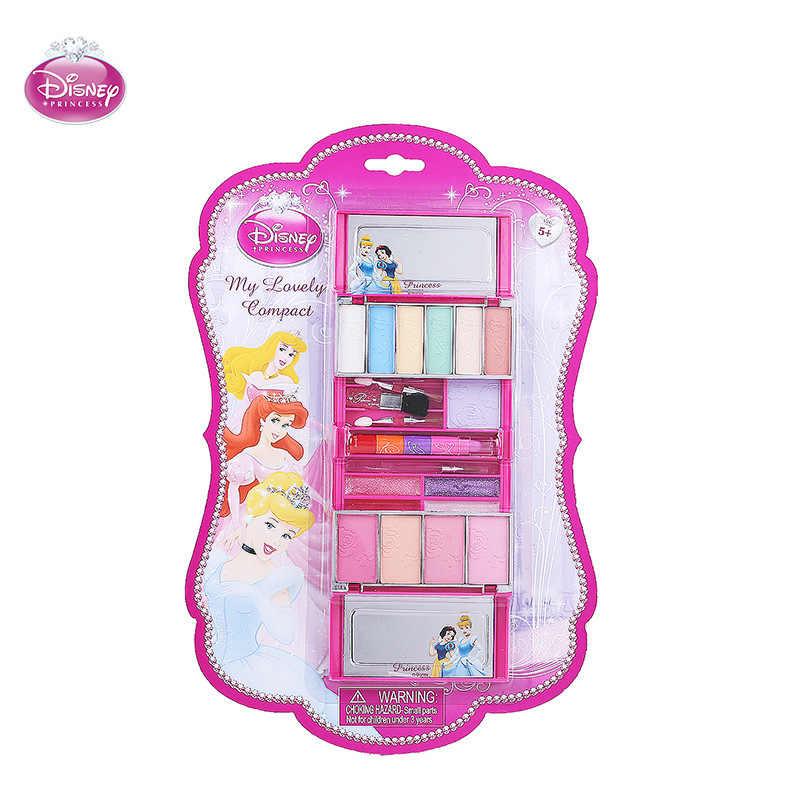 Disney Congelado Conjunto Batom Maquiagem Cosméticos de Segurança Não-tóxico meninas Desempenho brinquedos Brinquedo crianças presente de aniversário de maquiagem Caixa de Maquiagem