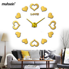 3D diy Acrylic mirror Stickers Quartz Modern Watch Home Decoration new sale wall clock clocks reloj de pared watch Free shipping(China)