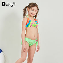 a9e14b1308 Mädchen Zwei Stücke Bikini Badeanzug Baby Mädchen Bademode mit Blume für  Urlaub Strand Party Blumen Badeanzug