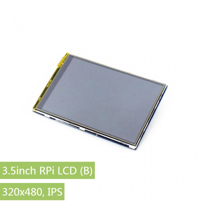 Waveshare 3.5inch RPi LCD (B) Resistive Touch Screen TFT Display Designed for Raspberry Pi 320*480 high resolution SPI Interface 3 2 inch resistive touch screen tft lcd designed for rpi b