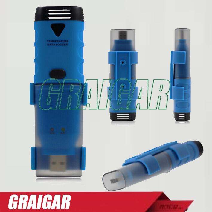 BTH04 Temperature Data Logger Recorder USB -35C-80C -31F-176F Stores 32K Readings Lithium Battery LED Alarm