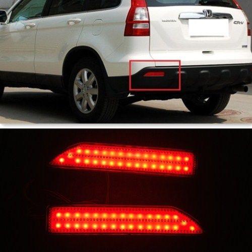 CYAN SOIL BAY For Honda CRV CR-V 2007 2008 2009 Red lens LED Rear Bumper Reflector Light Lamp ветровик rein для honda cr v iii 2006 2012 кроссовер на накладной скотч 3м 4 шт