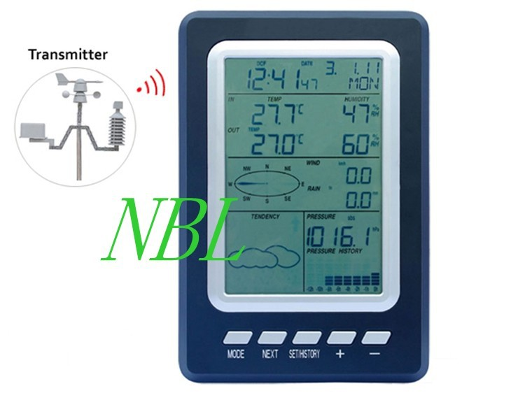 Professional  Wireless Weather Station Temperature Humidity Rain Pressure Wind Speed Direction Weather Center  Weather Forecast turbulence effect on wind rain station