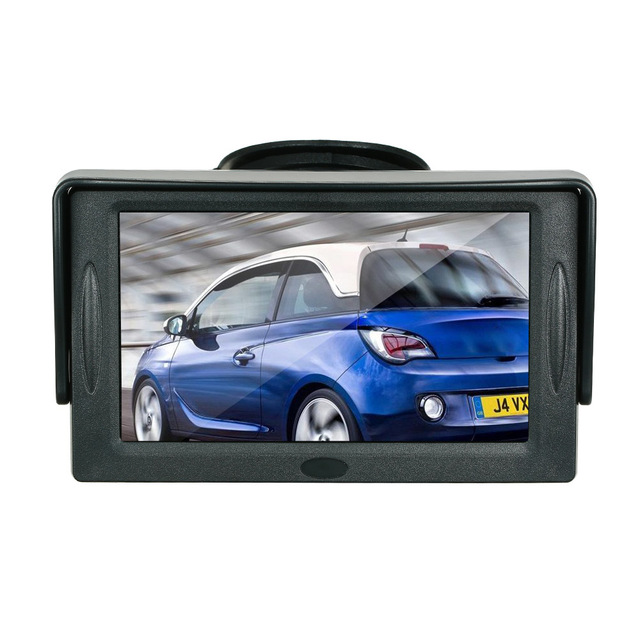 4.3 Inch TFT Display Sun Visor Car LCD Monitor Dashboard Screen Parking  Monitor Suction Cup Type for bmw e46 e90 ford focus 2 vw 0471d7a5ed3