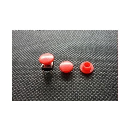 1000PCS/LOT  Key Caps 7.9 * 7.9 * 4mm Switch Cap Fit Tact Switch 6 * 6 Red A29 OD 8 Hole 3.1