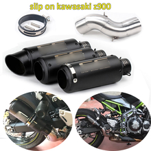 Z900 Motorcycle Exhaust System Slip On Modified Link Mid Pipe Baffler Tail for Kawasaki
