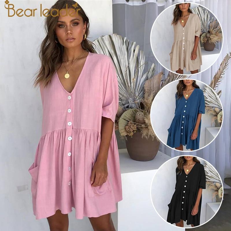 Bear Leader Summer Shortsleeve Loose Dress Maternity Clothes For Pregnant Women Vestidos Gravidas Lady Dress Pregnancy Dresses