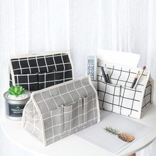 Cotton Linen Tissue Box Multifunctional Desktop Pumping Napkin Paper Holder Waterproof Towel Case Storage Bag