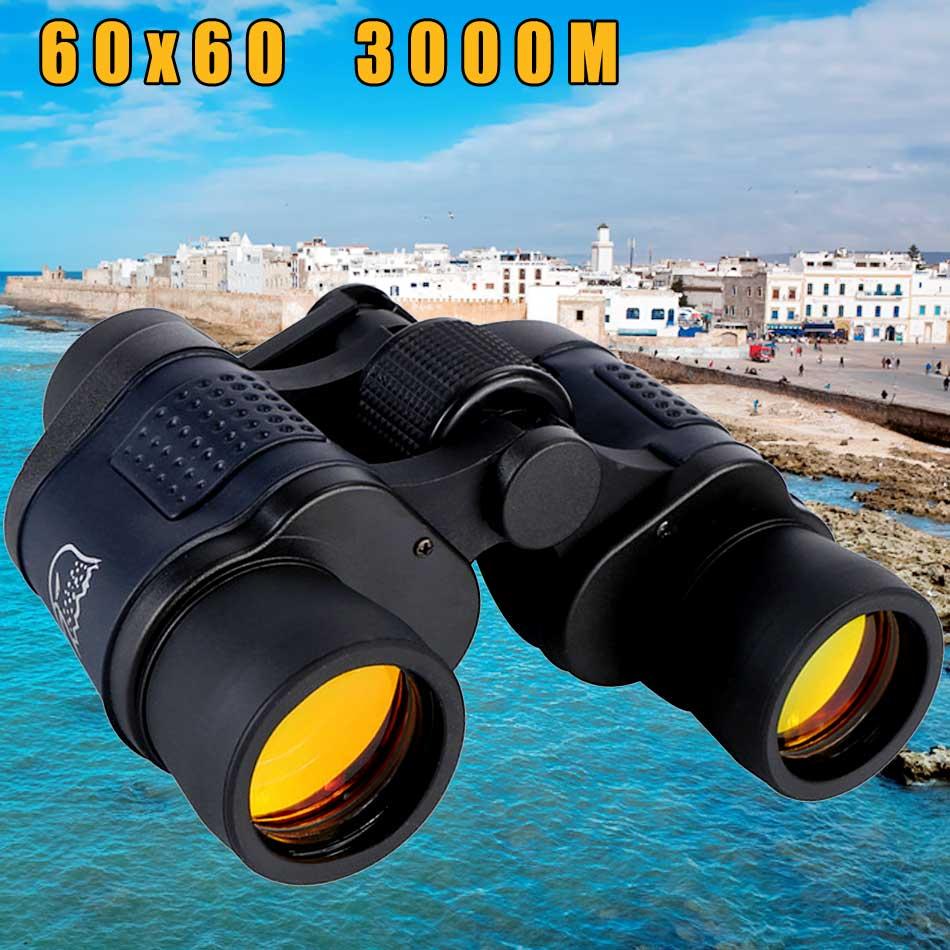 Binóculos telescópio óptico 60x60 caça visão noturna à prova dwaterproof água ao ar livre alta clareza 3000 m definição de alta potência nova