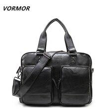Vormor высокое качество многофункциональные сумки моды Бизнес tote PU кожаный портфель сумки большой Ёмкость мужские дорожные сумки