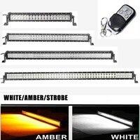 Marloo White Amber 22 32 42 50 52 inch 120W 180W 240W 288W 300W LED Work Light Bar Tractor Boat OffRoad 4WD 4x4 Car Truck SUV