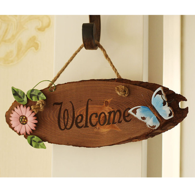 Attractive Mediterranean style Welcome Doorplate 22.5*12*1.2 CM ...