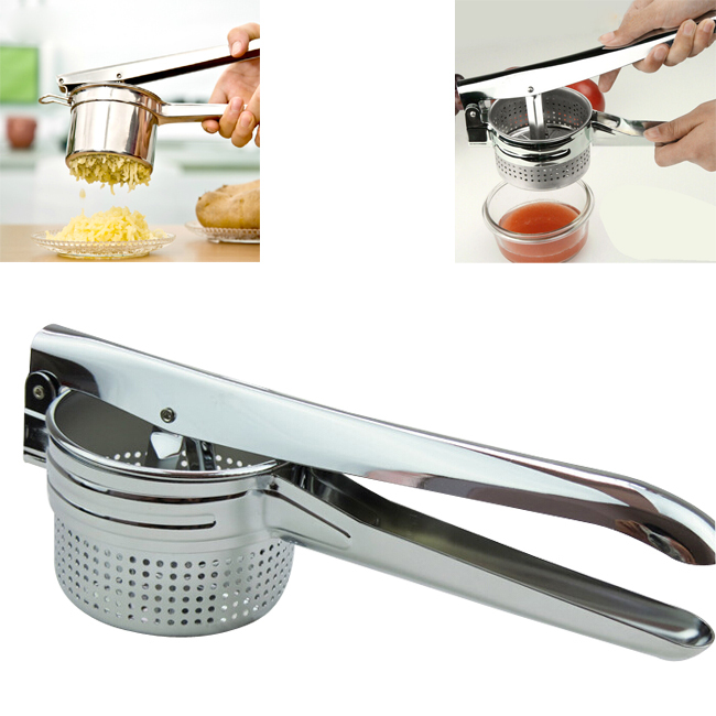 Essential New Stainless Steel Potato Masher Ricer Puree Fruit Vegetable Juicer Crusher Press Squeezer Maker Kitchen Tool