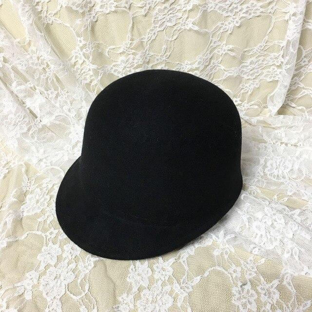 Мода бейсболка, шляпка полный шерстяные мода рыцарь крышка конный крышка старинные фетровых шляпа женщин