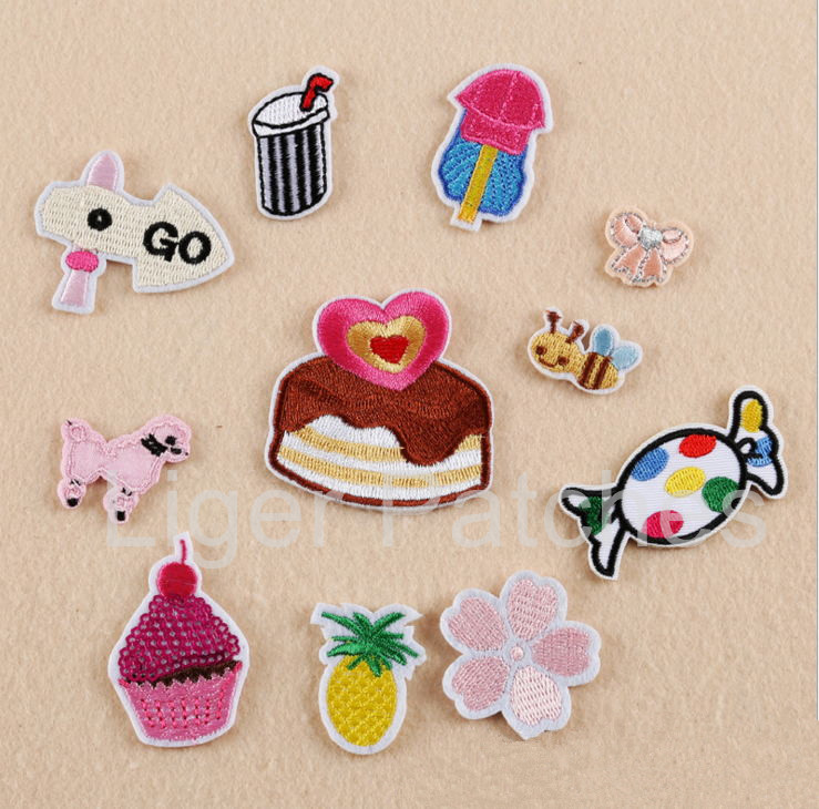 New patch pcs mini size embroidered cartoon