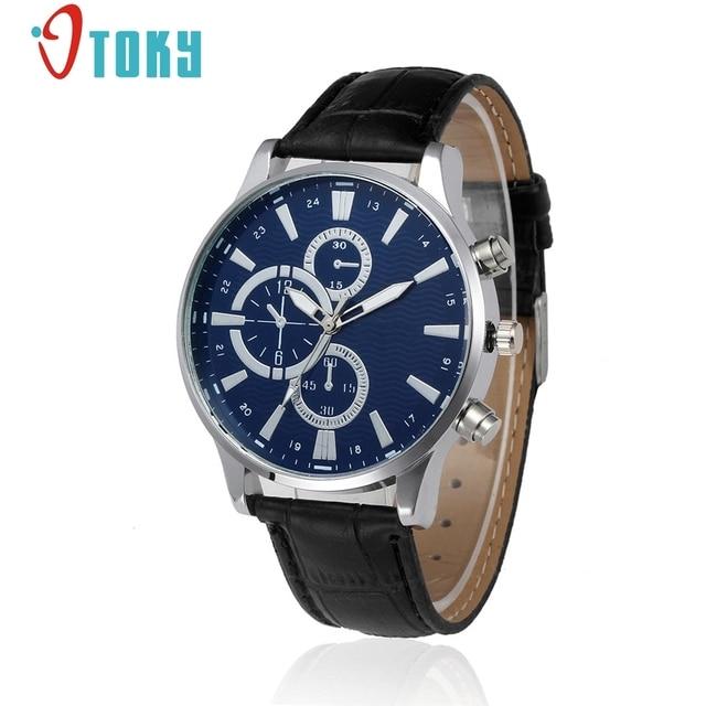 4ef1a3ac2bf OTOKY Casual Men s Watches Leather Fashion Quartz Watch Men Sport Military  Army Wristwatch relogio masculino  30 Gift 1pc