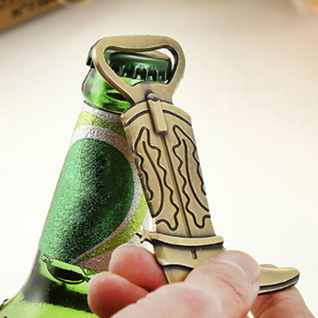 Najnowsza moda nowy stop metal klasyczny but kowbojski piwa butelka otwieracz do butelek lato na plaży na dekoracja weselna prezent TSLM2