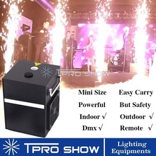 Cold Firework Fountain Spark Machine Mini Sparkular 500W Cold Flame Stage Lighting Effect DJ Equipments for Weddings Dmx Remote