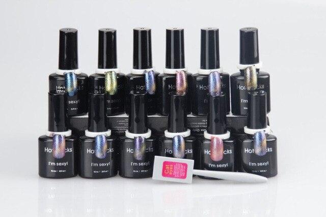 Magic Cat Eyes get free Magnetic 12 Colors kit UV Gel Soak Off Gel Nail Polish