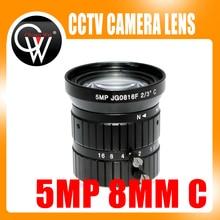 5mp 8 мм с креплением 2/3 «5.0 мегапиксельный объектив руководство фиксированной объектива C крепление промышленных объектив для CCTV ip-камера Box