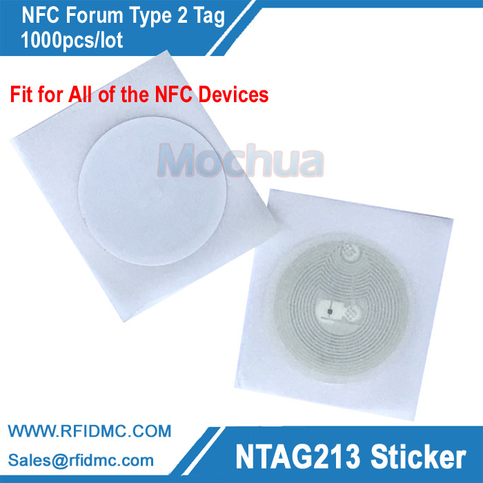 Ntag213 sticker, NFC sticker fit for all NFC enable device RFID adhesive label, NFC label-1000pcs