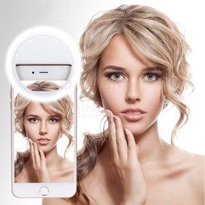 Image 4 - Lámpara de luz LED recargable portátil para fotografía, luz de Flash para Selfie, anillo de luz para teléfono, luz de vídeo nocturna, novedad de 2018