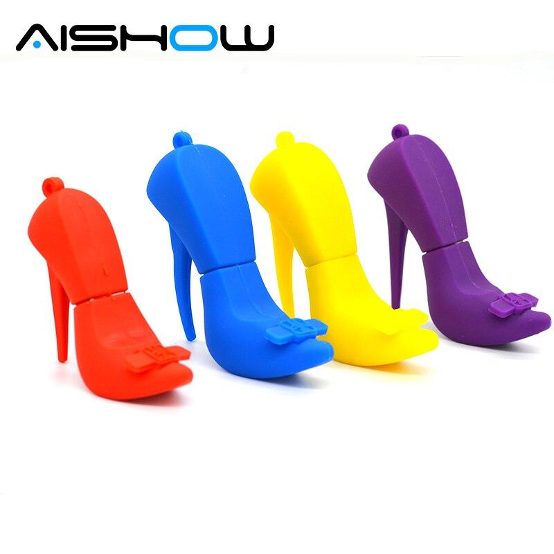 pendrive flash card High heels 4gb 8gb 16gb 32gb 64gb, pendrives cartoon red shoes usb flash drive usb memory pen driver gadget