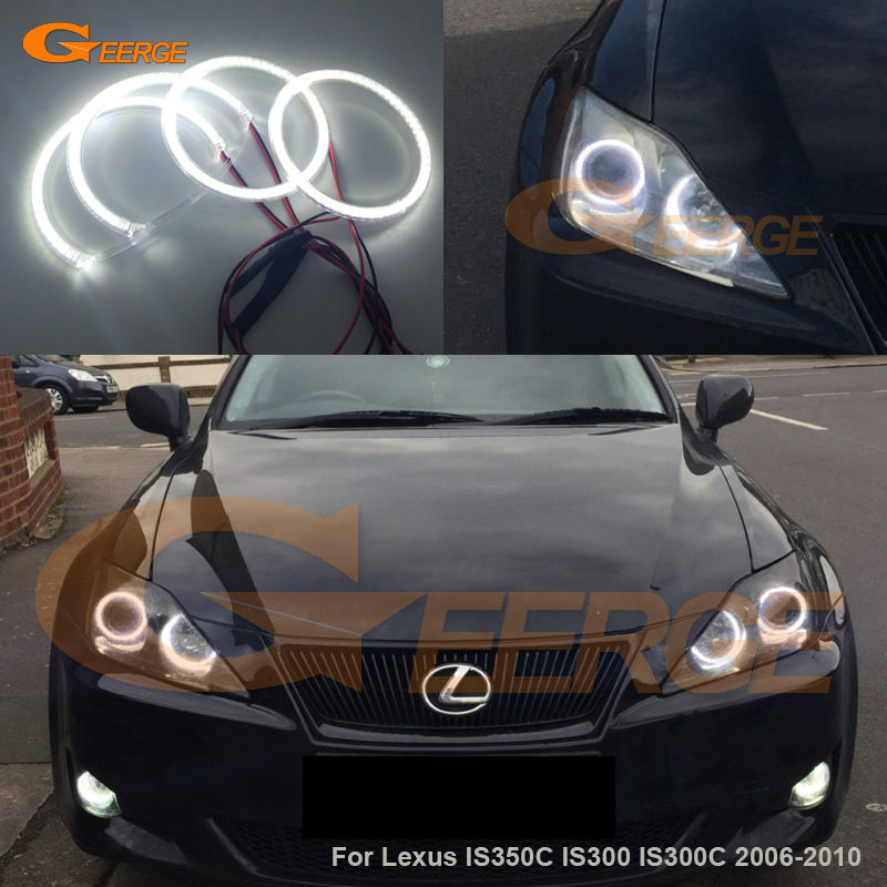 For Lexus IS350C IS300 IS300C 2006-2010 Excellent Angel Eyes Ultra bright illumination smd led Angel Eyes kit Halo Ring for lexus rx450h rx350 rx270 2010 2011 2012 excellent led angel eyes ultra bright illumination smd led angel eyes halo ring kit