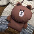 New unisex bag cute cartoon character Brown bear Rabbit Sally chicken phone bag and coin purse 3 kinds availible