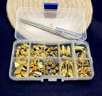 Золото/пистолет/бронзовый сплав металлические шипы коронки заклепки для одежды с винтами шпильки для сумки, обуви, джинсов, кожи diy ремесло ...