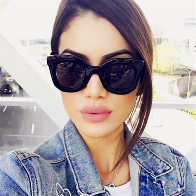 Plinth Sunglasses Frames Classic Fashion Women Stylish Cat Eye-Lens Oculos-De-Sol Broad