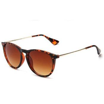 Vintage Retro Mirror Erika Sunglasses Women Brand Designer Cat Eye Sun Glasses Leopard Protection Mirrored 4171 zonnebril dames 1
